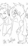 LuffyxZoro-doodles